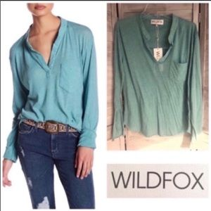 WILDFOX Sophia Lightweight Henley Small NEW NWT
